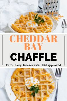 Cheddar Bay Chaffle Recipe - A keto waffle with the flavors of Red Lobster Cheddar Bay Biscuits Delicious and easy to make Serve these for dinner along side any dish ketochaffle chaffles chafflerecipe # Desserts Keto, Keto Friendly Desserts, Plated Desserts, Sweets Recipes, Snack Recipes, Low Carb Keto, Low Carb Recipes, Cheddar Bay Biscuits, Cheddar Cheese
