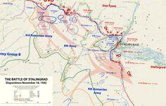 mapsontheweb: Operation Uranus: The Encirclement of German Forces at the Battle of Stalingrad.