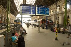 The Keleti Railway Station is a busy hub. Catch a train to Eger from this station. Don't exchange your currency here...it's expensive!