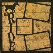 EZLaserDesigns : The Ride scrapbook overlay horse horseback riding farm layout