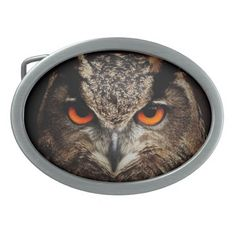 Owl with Orange Eyes Custom Belt Buckle Belt Buckle. Thank you customer in the United Kingdom!