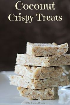 Coconut Crispy Treats - Skip the cereal and make a healthy crispy treat instead! Paleo, vegan and gluten free.