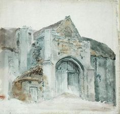 The Tithe Barn, Abbotsbury by  Thomas Girtin