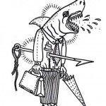Ofice Shark tattoo Sketch