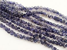 Iolite Faceted Onion Beads Natural Iolite Onion by gemsforjewels