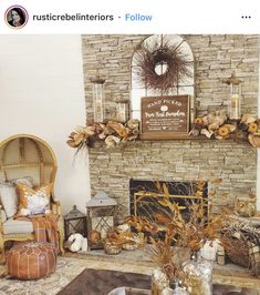 Fall Mantle Basics // Fall Mantle Inspiration – the dotted bow Magnolia Garland, Magnolia Leaves, Faux Pumpkins, White Pumpkins, Fall Wood Signs, Amber Bottles, Mantles, Home Decor Inspiration, Decorative Items