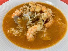 Sopa de marisco con arroz Thai Red Curry, Ramen, Ethnic Recipes, Food, Healthy Recipes, Ethnic Food, Essen, Meals, Yemek