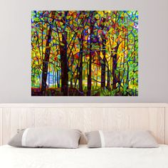 Abstract Forest Landscape Wall Decal – Standing Room Only by Mandy Budan