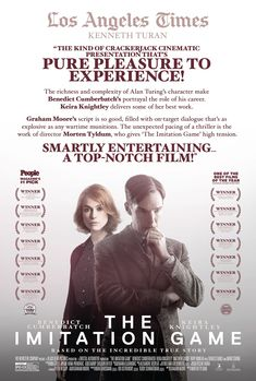 The Imitation Game - Best Picture, Best Actor, Best Supporting Actress #KeiraKnightley #BenedictCumberbatch #ImitationGame