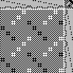 Laurie Autio huck on braided twill Weaving Patterns, Lace Patterns, Textile Patterns, Knitting Patterns, Loom Weaving, Hand Weaving, Lace Weave, Dobby Weave, Weaving Projects