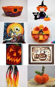 For happy Halloween by Jen Handycraft on Etsy--Pinned+with+TreasuryPin.com