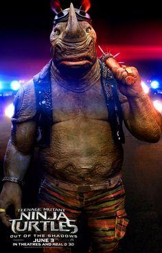 teenage mutant ninja turtles 2 rocksteady poster1 Teenage Mutant Ninja Turtles 2 Gets a TV Trailer & New Posters