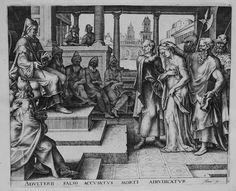 Philips Galle (Antwerp, 1537-1612), The Elders Accuse Susanna of Adultery