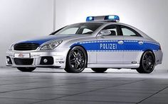 The Brabus CLS V12 S Rocket, which has a top speed of 225mph, was unveiled at the Essen Motor Show in Germany and competes with Italy's Lamborghini for the title of world's fastest police car.