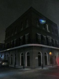 Photo of blue orb at Delephine Lalaurie Mansion