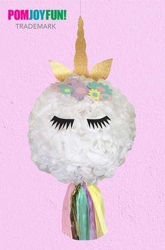 Unicorn Piñata, Unicorn Party,  Unicorn Birthday Piñata, Unicorn Horn and flowers, huge pinata