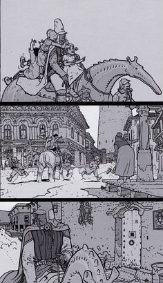 "Moebius - From ""ARZAK Destination Tassili #1- The Return of a Legend"" Special collector black and white edition - Moebius Production, Paris - Nov. 2009"