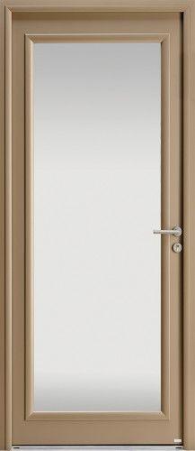Mod le alcyone porte d 39 entr e aluminium contemporaine mi vitr e 1 grande lune en vitrage - Porte d entree qui ferme mal ...