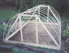 another hoop house the plans are in a link at the bottom this guys in maine and has grown garden greens unheated year round