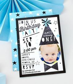 There's only one first birthday. Do it up in style with our collection of first birthday party invitations. Make Birthday Invitations, 1st Birthday Cards, Baby First Birthday, First Birthday Parties, First Birthdays, Tiny Prints, Babys, Rsvp, Cake