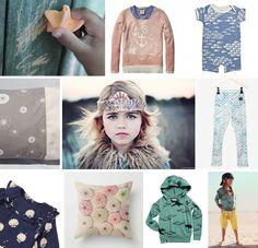 sandcastle and starfish - childrenswear prints