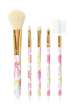 Tropical Print Brush Set | FOREVER21 #F21Cosmetics #Makeup. Cute brush to have on the go..