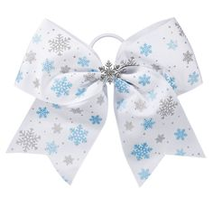 You will always be walking in a winter wonderland when you wear the Chassé Snow and Sparkle Hair Bow! Find all of your low-priced holiday cheer accessory needs here. Cheerleading Hair Bows, Cheer Hair Bows, Ribbon Hair Bows, Cheerleader Hair, Daughters, To My Daughter, Sparkle, Hair Accessories, Snow