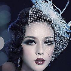 チュール/羽毛♥ウェディング♥ヘッドドレス - JPY ¥ 2,052