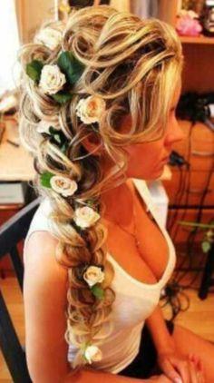 Really Pretty <3 blonde,  flowers,  braid