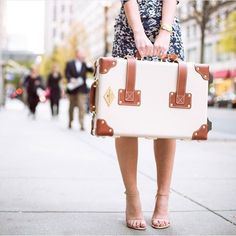 The Diplomat in Cream | Luxury leather suitcase | Steamline Luggage - Carry On size
