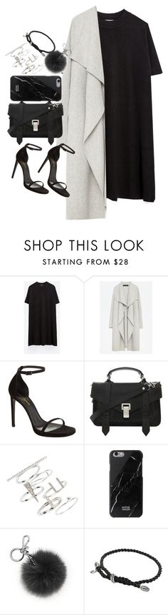 """""""Untitled #1671"""" by sarah-ihab ❤ liked on Polyvore featuring Zara, Yves Saint Laurent, Proenza Schouler, Topshop, Native Union, Michael Kors and David Yurman"""