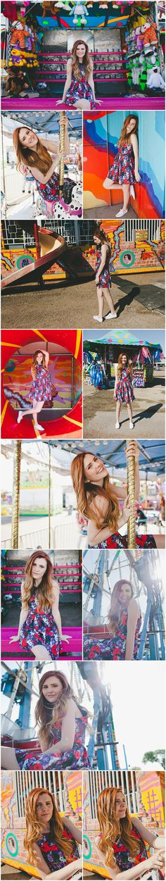 Fun Senior Pictures at a carnival.