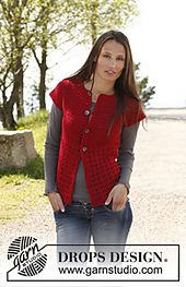 Ravelry: 140-7 Christel - Vest with round yoke in Lima pattern by DROPS design