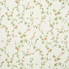 Shop for Fabric at Style Library: Passion Flower by Sanderson. Clambering honeysuckle entwined with passion flowers create an open wallpaper design . Print Wallpaper, Fabric Wallpaper, Wallpaper Roll, Flower Wallpaper, Blind, Harlequin Fabrics, Roman, Sanderson Fabric, English Country Cottages