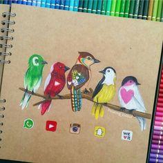 Media Birds by @floating_colour Follow...