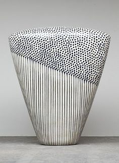 catherine-white: exercicedestyle: Jun Kaneko love the mix of drips and dots and form