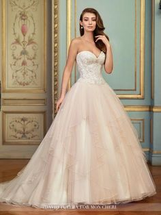 David Tutera - Aurinda - 117285 - All Dressed Up, Bridal Gown - Mon Cheri - Chattanooga TN's All Dressed Up Bridal Shop / Bridal Boutique offers Wedding Gowns, Prom Dresses & Tuxedo Rentals