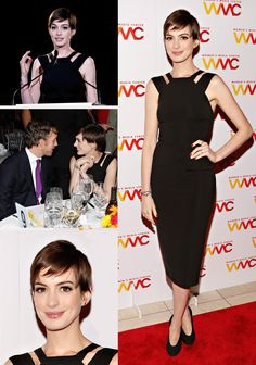 Hathaway Brings Chic Out At The 2012 Women's Media Awards
