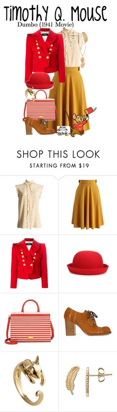 """Timothy Q. Mouse"" by jess-nichole ❤ liked on Polyvore featuring Chanel, Chicwish, Dsquared2, Boutique Moschino, Loewe and TADAM! DESIGN"