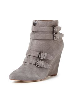 Aren Short Wedge Strap Boot by Renvy at Gilt