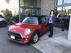 ARLEEN, we appreciate your business!  Wishing you many miles of smiles from all of us here at Northwest MINI and Terry Soumis.