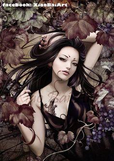 Kai Fine Art is an art website, shows painting and illustration works all over the world. Art Geisha, Beautiful Dark Art, Art Asiatique, Art Manga, Art Japonais, Desenho Tattoo, Art Et Illustration, Botanical Illustration, Autumn Art