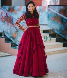 51 Ideas Birthday Dress Women Traditional For 2019 Long Gown Dress, Lehnga Dress, Lehenga Choli, Saree Blouse, Anarkali, Indian Wedding Gowns, Indian Gowns Dresses, Evening Dresses, Birthday Dress Women