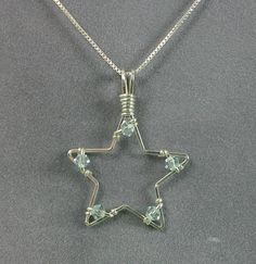 Handmade Star Pendant in Sterling Silver Wire by MystikCritterZ, $18.00