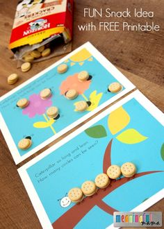 Fun Snack Idea for Kids that Involves Counting - Free Printable Activity Included #ad
