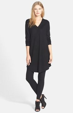 Eileen Fisher Lightweight Merino Jersey V-Neck Tunic (Regular & Petite) available at #Nordstrom