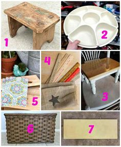 Create your own hardware organizer for craft storage by upcycling a Tupperware serving center and a wooden lazy susan. Perfect for industrial decor! Rustic Industrial Decor, Vintage Industrial Furniture, Recycled Furniture, Hardware Organizer, Stool Makeover, Furniture Makeover, Thrift Store Crafts, Thrift Store Furniture, Furniture Nyc