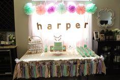 Harper's First Birthday Party- Decor