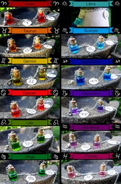 Zodiac Color Bracelets via Etsy, Birdsoupshop $9.50 (This is kinda creepy...)---Is Gamzee selling potions again?