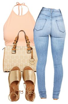 """Untitled #1134"" by zykira ❤ liked on Polyvore featuring moda, NLY Trend, MICHAEL Michael Kors e Kaanas"